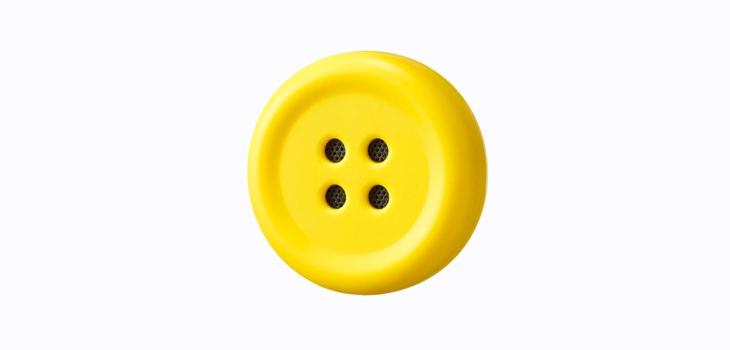 ペチャットのぬいぐるみに付ける黄色いボタン